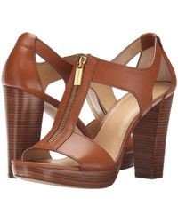 MICHAEL Michael Kors Michael Berkley T-strap Platform Dress Sandals - Brown