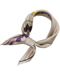 Tory Burch Mushroom Party Silk Neckerchief Scarves - Multicolor