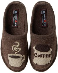 Haflinger - Coffee (brown) Women's Slippers - Lyst