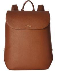 Lipault - Plume Elegance Leather Laptop Medium Backpack - Lyst