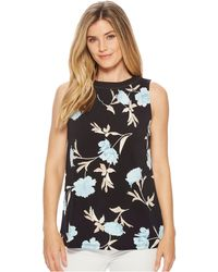 Ellen Tracy - Sleeveless Top With Smocking - Lyst