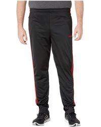 Big Tall Essentials 3 stripe Tricot Pant Tapered Black