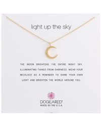 Dogeared - Light Up The Sky Thin Crescent Moon Necklace (sterling Silver) Necklace - Lyst