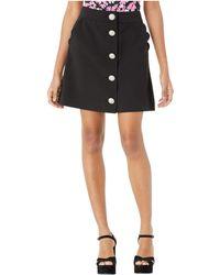 Kate Spade Scallop Pocket Skirt - Black