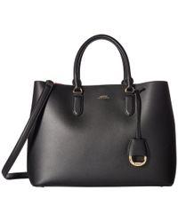 Lauren by Ralph Lauren - Dryden Marcy Satchel Large (black/red) Satchel Handbags - Lyst