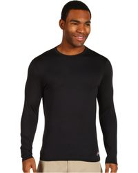 Hot Chillys - Micro-elite Chamois 8k Crew Neck (black) Men's Underwear - Lyst