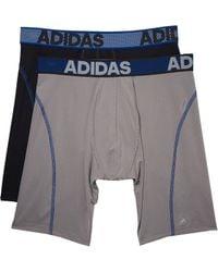 adidas - Sport Performance Climacool(r) 2-pack Midway (light Onix/blue/night Grey/light Onix/blue 1) Men's Underwear - Lyst