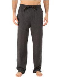 Tommy Bahama Heather Cotton Modal Jersey Lounge Pants (denim Heather) Men's Pajama - Black