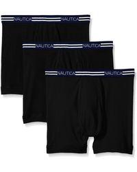 Nautica 3-pack Cotton Boxer Brief - Black
