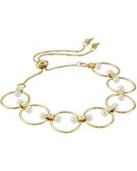 Rebecca Minkoff - Encircled Floating Pearls Pulley Bracelet - Lyst