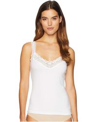 Hanky Panky Cotton With Lace Cami - White