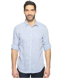 Perry Ellis - Rolled Sleeve Solid Linen Shirt (delft) Men's Clothing - Lyst