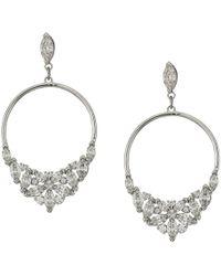Swarovski - Lady Frontal Hoop Pierced Earrings (white) Earring - Lyst