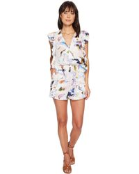 Bishop + Young - Elle Print Ruffle Romper - Lyst