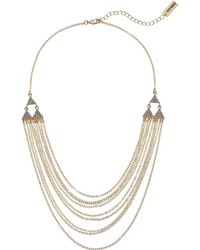 Steve Madden - Rolo Layered Casted Lobster Necklace (gold) Necklace - Lyst