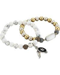 Lucky Brand - Dragonfly Stretch Bracelet (two-tone) Bracelet - Lyst