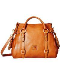 Dooney & Bourke - Florentine Small Satchel (chestnut/self Trim) Handbags - Lyst