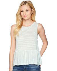 Three Dots - Mojave Stripe Flounce Tank Top (turquoise) Women's Sleeveless - Lyst