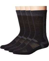 Columbia - 4-pack Color Block Stripe Moisture Control Crew (black) Men's Crew Cut Socks Shoes - Lyst