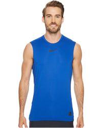34ad9384af9d40 Nike - Pro Fitted Sleeveless Training Top (black white white) Men s  Sleeveless
