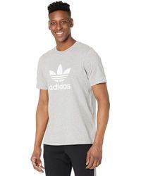 adidas Originals Trefoil Tee T Shirt - Gray