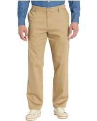 Dockers Straight Fit Signature Khaki Lux Cotton Stretch Pants D2 - Creaseless - Natural