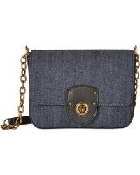 Lauren by Ralph Lauren - Millbrook Chain Crossbody (navy Autumn Blooms) Cross Body Handbags - Lyst