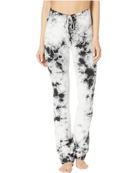 Hard Tail - High-waisted Lace-up Skinny Flare Pants - Lyst