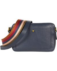 Madewell The Transport Camera Bag With Rainbow Webbing Strap - Blue