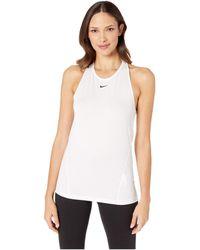 Nike Pro All Over Mesh Tank - White