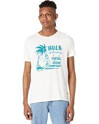 The Original Retro Brand Hula Vintage Cotton Short Sleeve Tee - Natural