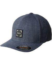 RVCA - Scores Flexfit Hat (heather Grey) Baseball Caps - Lyst becb52b9554b