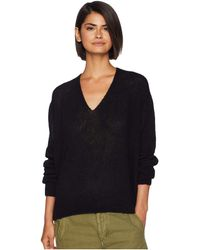 Free People - Gossamer V-neck Top (black) Women's Clothing - Lyst