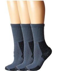 Thorlo - Hiking Crew 3-pair Pack (black) Women's Crew Cut Socks Shoes - Lyst