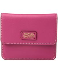 Frances Valentine - Coin Purse/credit Card Wallet (pink/red) Wallet Handbags - Lyst