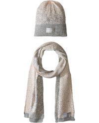 8dcfb81f0d2 Calvin Klein - Lurex Sparkle beanie Muffler Two-piece Set (petal) Scarves