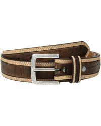 Ariat - Strap With Croc Print Center Inlay Belt (tan/brown) Men's Belts - Lyst