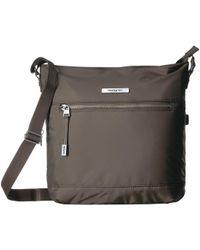 Hedgren - Source Rfid Large Vertical Crossbody (zinc) Cross Body Handbags -  Lyst f70ff01cc9c26