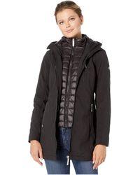 Calvin Klein Softshell Jacket With Packable Bib Insert - Black