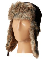 ed275e23072 Woolrich - Wool Blend Trapper With Faux Fur Lining (white Plaid) Caps - Lyst