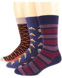 Pact Premium Organic Cotton Crew Socks 3-pack - Multicolor