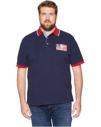 Polo Ralph Lauren - Big Tall American Flag Pique Polo (cruise Navy) Men's Clothing - Lyst
