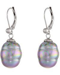 Majorica - 12mm Baroque Pearl Drop Earrings - Lyst