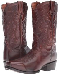 Dan Post - Crosby (antique Tan Goat) Cowboy Boots - Lyst