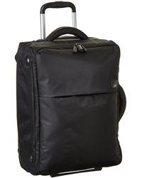 Lipault 0% Pliable 22 Upright Carry On Luggage - Black