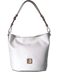 6eef4b9d50fa Dooney   Bourke - Pebble Thea Feedbag (french Blue tan Trim) Handbags -