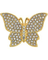 Vince Camuto Flowery Butterfly Pin - Metallic