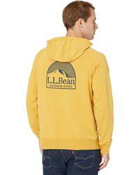 L.L. Bean Camp Hoodie Graphic Regular - Yellow
