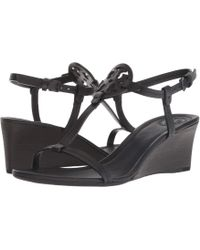 ad80e7c4a7c0 Tory Burch - 60 Mm Miller Wedge (perfect Black) Women s Shoes - Lyst