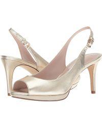 Nine West - Gabrielle Slingback Peep Toe Pump (black Leather 2) Women's Shoes - Lyst